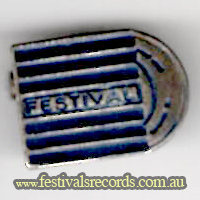 Festival Records old Badge
