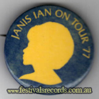 Janis Ian Tour 77 Button